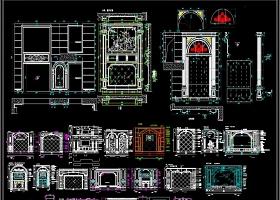 原创2019大理石背景墙CAD素材
