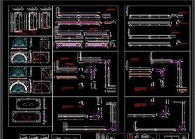 原创整木定制标准线条刀型CAD图库