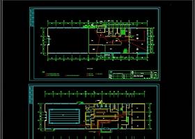 健身房电气电视监控CAD施工图