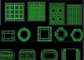 千种门窗CAD图库