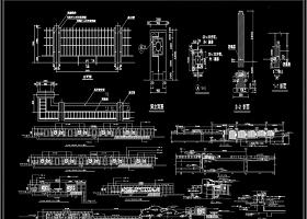 景观围墙CAD施工图