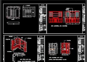全屋定制柜體榻榻米CAD施工圖