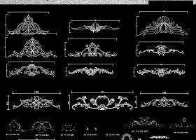 歐式浮雕雕塑造型大樣圖CAD