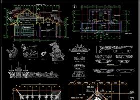 古建筑殿阁CAD设计图