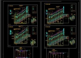 旋转楼梯CAD大样节点图库