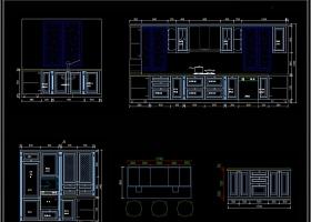 法式橱柜CAD图库橱柜设计素材