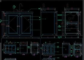 卫生间门洗手台CAD施工图
