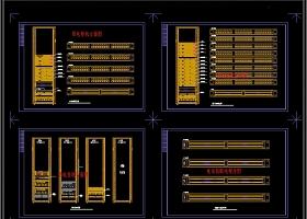 原创机房工程系统图常用弱电CAD