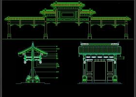 原创中式古建牌坊CAD施工图