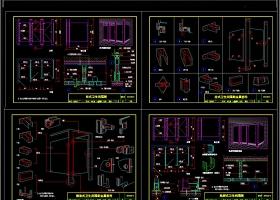 卫生间成品隔断CAD图