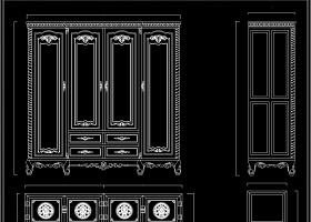 原创中式衣柜顶箱柜大衣柜CAD素材