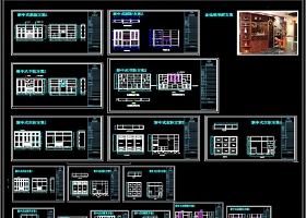 整木定制中式风格柜子CAD设计