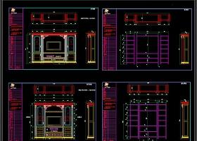 实木橱柜CAD图库橱柜设计素材