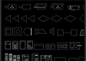 原創全套安防監控設備CAD圖庫