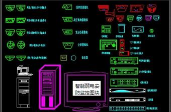 原创智能弱电安防监控CAD图块