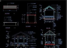 古建长廊建筑施工图