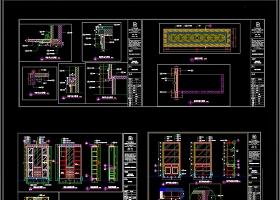 CAD欧式酒柜衣柜衣帽柜鞋柜大样施工图