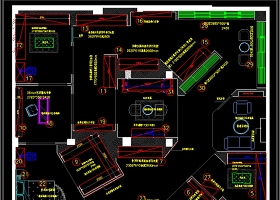 原创全屋定制酒柜书柜衣柜展厅CAD图库