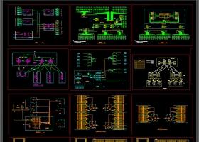 原创弱电智能化系统图cad素材