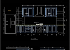 L型欧式橱柜CAD图纸