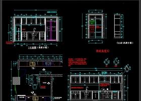 CAD实木橱柜设计CAD家居素材