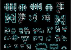 原创办公桌椅沙发器材家具CAD图库