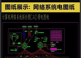 原创史上最全网络系统CAD电图纸