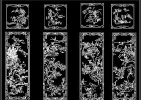 原创明式衣柜花鸟顶箱柜福寿衣柜CAD