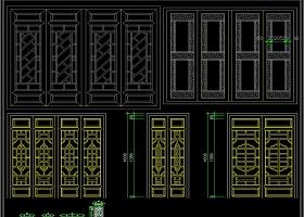2019全套木质门窗CAD图库总汇