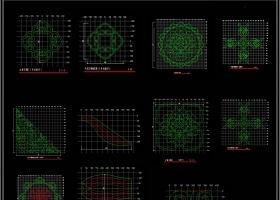 新中式镂空花格屏风隔断CAD经典图库