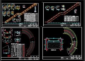 标准石材旋转楼梯CAD设计参考带分解图