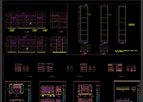 现代极简轻奢全屋定制CAD图库