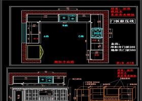 原创全套室内橱柜平面设计CAD图纸