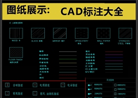 原创2019常用CAD标注大全CAD素材