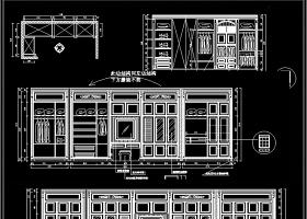 原創精品歐式全屋定制衣柜CAD圖庫