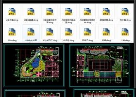 原创办公楼屋顶花园环境工程CAD套图