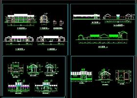 四合院建筑施工CAD图纸
