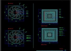 大理石水刀拼花图案CAD素材图库