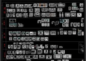 原创酒柜书柜卫浴柜衣柜鞋柜装饰柜CAD图集