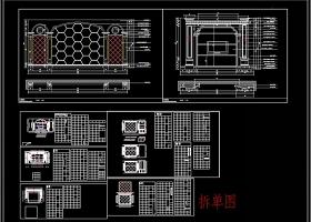 大理石电视背景墙CAD图库