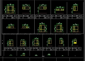 門窗CAD圖庫
