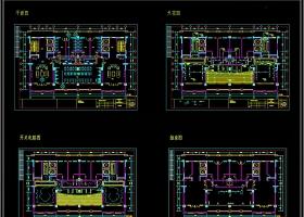 全套时尚现代健身房CAD施工图