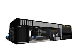 黑色特裝展臺3Dmax模型