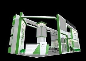 綠色展位特裝設計3Dmax下載