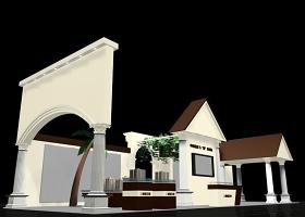 別墅區展會模型設計