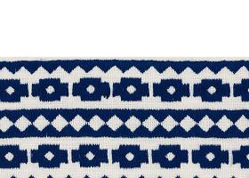 藏青色花紋地毯貼圖